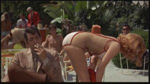Dean Martin as Matt Helm with Stella Stevens in The Silencers.