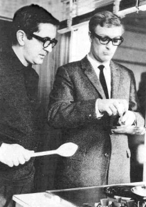 Len Deighton and Michael Caine