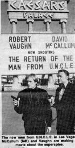 David McCallum, left, and Robert Vaughn