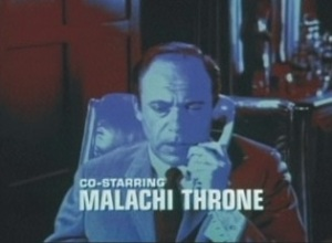 Malachi Throne's credit on It Takes A Thief