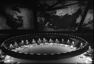 "Ken Adam's ""war room"" set from Dr. Strangelove"