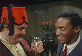 Victor Buono and Bill Cosby in an I Spy episode