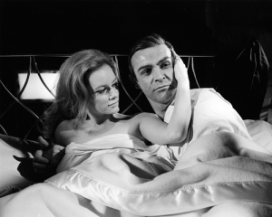 Luciana Paluzzi and Sean Connery during the filming of Thunderball