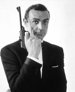 Sean Connery, as 007, circa 1963