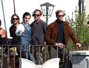 Henry Cavill and Armie Hammer during filming in photo on Zimbo.com site